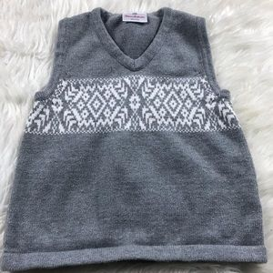 Hanna Andersson cotton grey sweater vest size 100